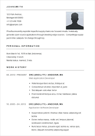 Simple Resumes Examples Simple Simple Resume Layouts Basic Resume Template For App Developer