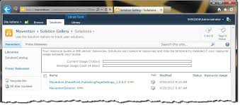 solution gallery in a site collection in sharepoint 2010