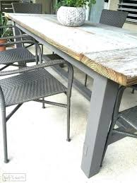 round wood patio table wood patio table plans farmhouse table gorgeous this blogger used discarded old