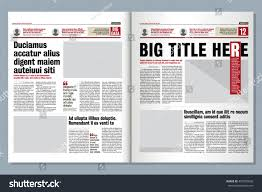 Creative Newspaper Template Graphical Design Tabloid Newspaper Template Creative Stock
