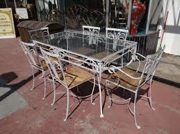 patio furniture white. Image Of: Furniture Vintage White Wrought Iron Patio High Quality With Regard To
