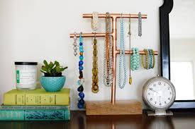 copper pipe jewelry stand DIY