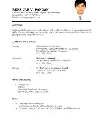 basic curriculum vitae template curriculum vitae template for job application resume sample example