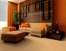 Orange Decor For Living Room Living Room Orange Cushions Lampshade Decor Sofa Set Geometric