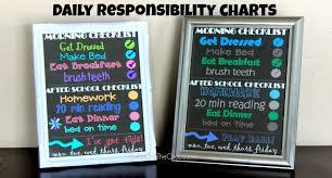 Daily Checklist Chart Free Printable Kids Daily Responsibility Chart Balancing