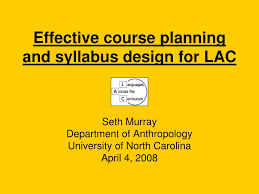 Course Planning And Syllabus Design Ppt Effective Course Planning And Syllabus Design For Lac