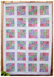 Nine Patch Reproduction Fabric Baby Quilt &  Adamdwight.com