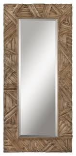 Classic Design Large Wall Mirror Wood Frame Walnut Details Home Decor  contemporary-wall-mirrors