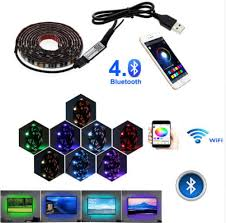 <b>4pcs 12v</b> Led Strip <b>Light</b> Tape Pc <b>Car</b> Interior Rgb Drl Usb 12 V Volt ...
