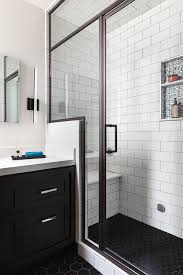 San Francisco Bathroom Remodel Steam Shower Black Hex Floor - Basement bathroom remodel