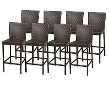 tkc napa outdoor wicker bar stools in espresso set of 8 tkc202b bs 4x