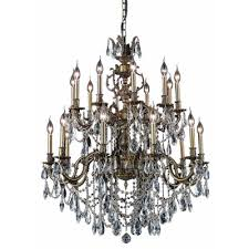 canary 20 light crystal chandelier finish crystal color crystal trim french gold