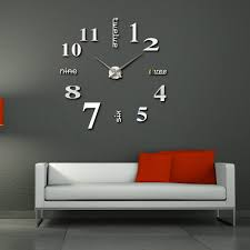 Small Picture wall clock modern large modern designer wall clocks red candy