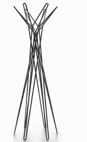 White Standing Coat Rack Portemanteau Wardrope corde 100 patères à suspendre by Authentics 72