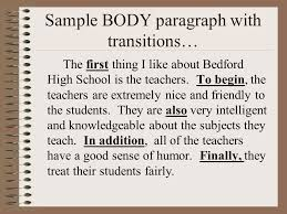 the paragraph essay ppt video online  sample body paragraph transitions