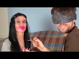 blindfolded makeup challenge with brad woto