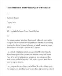 Sample Cover Letter For Electrician Electrical Engineer Job