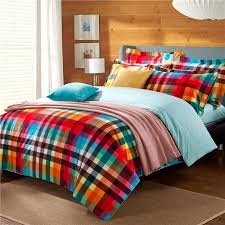 33 stylist design ideas orange and lime green bedding bright colorful gingham plaid print traditional vogue luxury 100 brushed purple teal