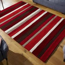 red striped rugs uk