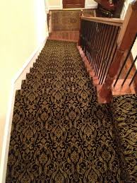 Patterned Stair Carpet Inspiration Decorating On A Shoe String Installs Patterned Carpet On Stairways