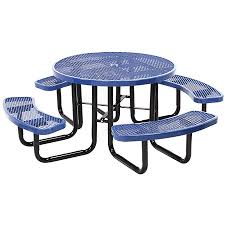 commercial outdoor 46 round expanded metal table select your color