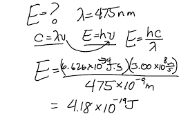 calculations using sd of light equation planck s constant chemistry science energy sd of light showme