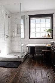 Wood Tile Bathroom Flooring 5 Bold Design Ideas Dark Rustic Floors
