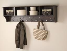 White Wall Mounted Coat Rack With Shelf Coat Racks stunning wall hanging coat rack shelf wallhangingcoat 24