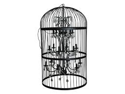oval chandiler black bird cage chandelier big