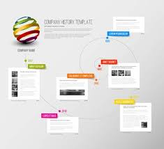 Vector Company Infographic Overview Design Template With Colorful ...