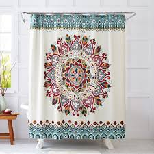 better homes and gardens medallion fabric shower curtain com