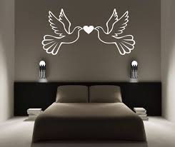 personalised dove love birds vinyl wall sticker any name bedroom kids art decal 60cmx120cm on personalized love birds wall art with personalised dove love birds vinyl wall sticker any name bedroom