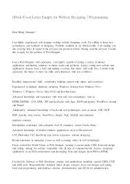 Sample Cover Letter For Web Developer Template Indemo Co