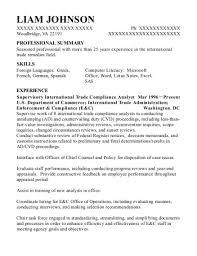 Best Senior International Trade Analyst Resumes Resumehelp