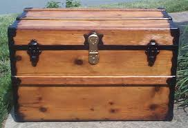 red all wood flat top antique trunks for 732