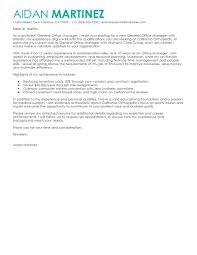best general manager cover letter examples livecareer edit