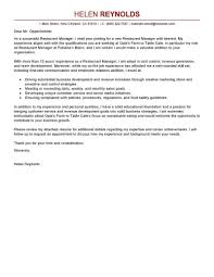 Restaurant Operations Manager Cover Letter Floor Examples Photos Hd