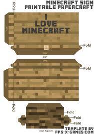 minecraft sign papercraft template love jpg minecraft papercraft i love minecraft sign template cut out