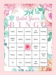 Wedding Bingo Words 10 Printable Bridal Shower Games To Diy