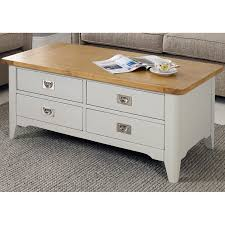 bordeaux painted ivory 4 drawer coffee table