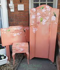 Shabby Chic Childrens Bedroom Furniture Painted Vintage Furniture Set For Girls Nursery Bedroom Wardrobe