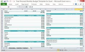 Personal Monthly Budget Spreadsheet Free Personal Monthly Budget Template For Excel