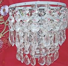 lead crystal wall sconce candle holder