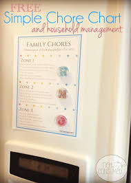 Household Chores Roster Simple Chore Chart And Household Management