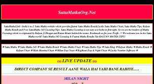Access Sattamatkasoftware Com Satta Matka Fastest Satta