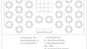 Dinner Table Seating Chart Template 8 Foot Table Seats 8 Foot