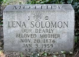 Lena Solomon (Roth) (1874 - 1959) - Genealogy