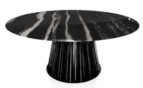 ku casa round dining table black