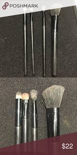 macys makeup brush set of 4 used but still great condition 3 eye and concealer