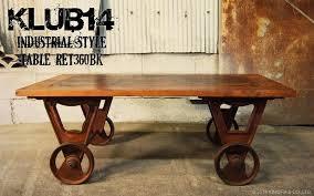 vintage steel furniture. Industrial Furniture Cart Center Table RET360BK Vintage Steel
